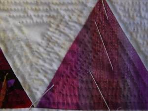 Triangles with extra quilting