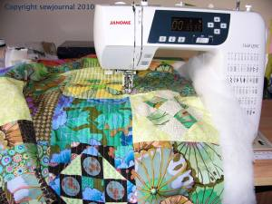 The Janome 3160QDC and The Kaffe Spring Quadrant
