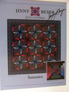 Front of pattern with Jinny's autograph