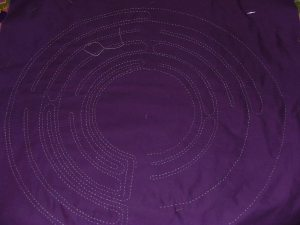 The design appears on the top fabric