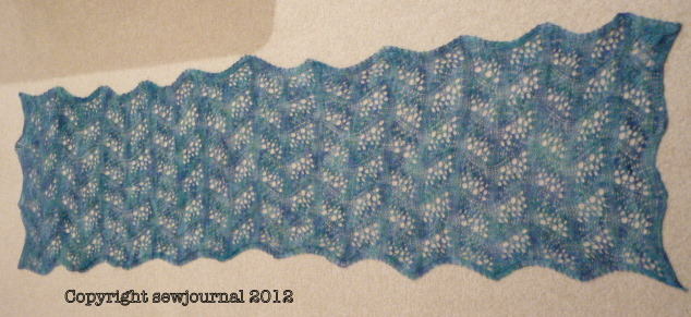 The Japanese Feathers Scarf Is Finished Free Scarf Pattern